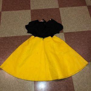 Vintage Costumes - Vtg 80s kids girls poodle skirt costume dress up